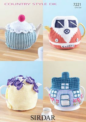 Sirdar Country Style DK - 7221 Tea Cosies, Knit & Crochet Pattern